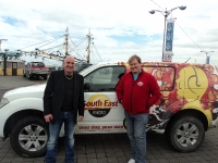 Brendan Keeley from 'The Voice' on the Quay in Wexford with Tony Scott