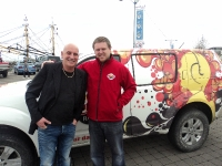 Brendan Keeley from 'The Voice' on the Quay in Wexford with Lee Hynes