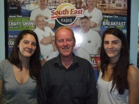 Ellie &amp; Louise 'Heathers' from Blackrock with Paul Rowley singing live on the Morning Mix Show