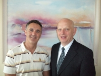 Billy Walsh with South East Radios Managing Director Eamonn Buttle