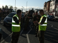 The Defence Forces pulling the Mowag to raise money for the Hope Centre in Enniscorthy 