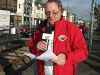 Stephen Dee reporting live from the Quay in Wexford