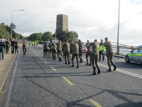 The Defence Forces pulling Mowag up Ferrycarrig Hill