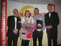 Yvonne Curran from Taghmon and Joe Weaffer, Enniscorthy with Adrian Jones and Alan Corcoran SER