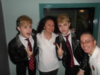 Jedward with our Lorraine Byrne and MIchael Sinnott
