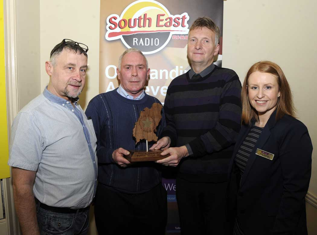 Congratulations to Jimmy Crowe from Ballygarrett our March recipient of the South East Radio / Talbot Hotel Outstanding Achievement Award.  Pic Jim Campbell - click here to view full gallery