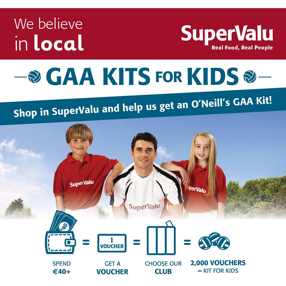 SuperValu GAA kits  for kids promo