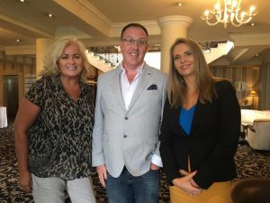 3 of the South East Radio Hospitality Awards at the Ashdown Park Hotel Sally Anne Clarke, Gavin O Reilly and Jules Mahon